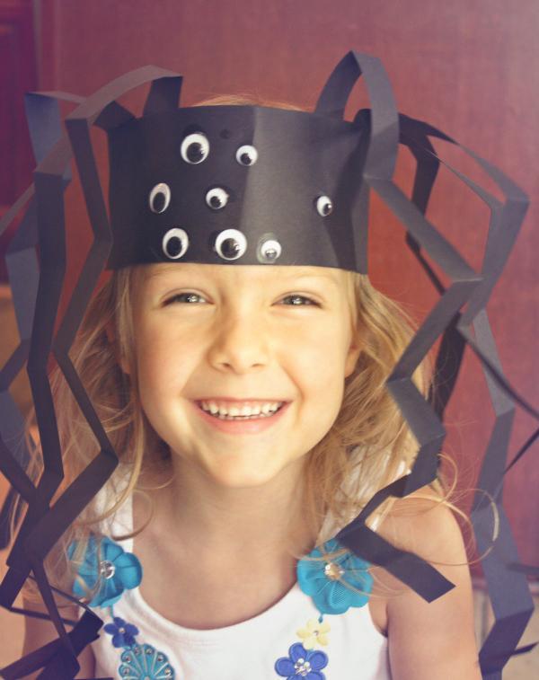 Kostum za noč čarovnic - pajek klobuček - civcav.si