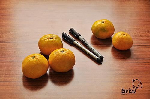 Za buče mandarine potrebujemo samo mandarine in flomaster - civcav.si