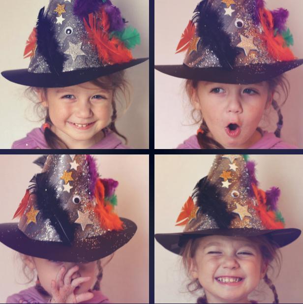 Kostum za noč čarovnic - čarovniški klobuk - civcav.si