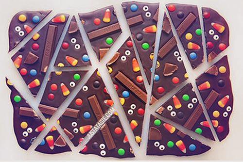 Čokoladni mix - prigrizek za zabavo za noč čarovnic