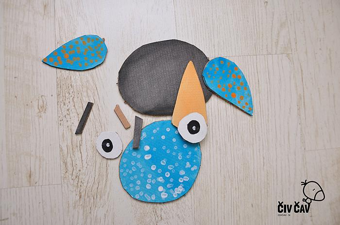 Ptički iz kartona z zavezanimi očmi 1 - civcav.si