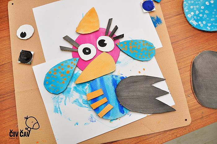 Ptički iz kartona številka 4 - civcav.si