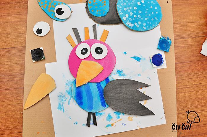 Ptički iz kartona številka 2 - civcav.si