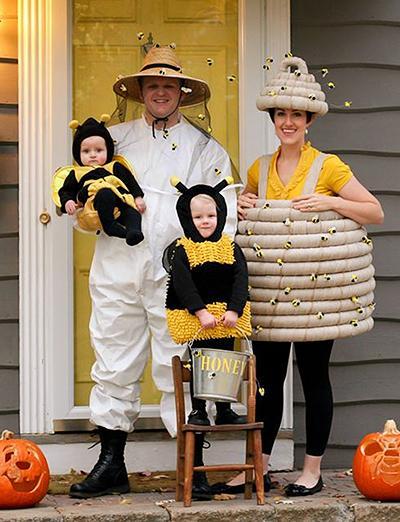 Pustni kostumi - čebelja družina - civcav.si