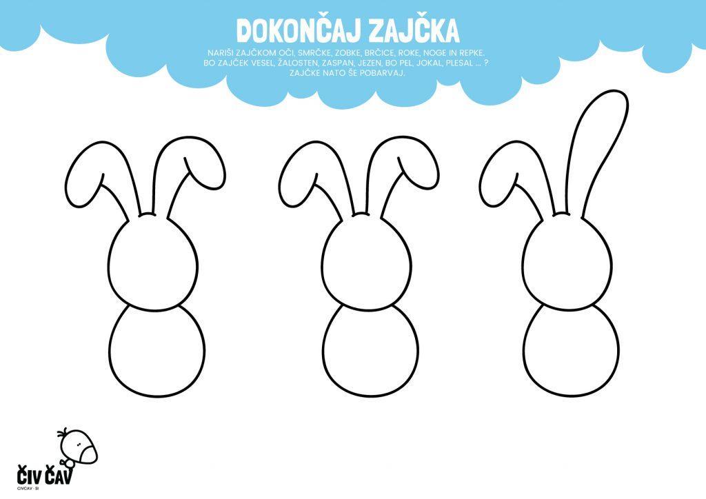 Nariši zajčka - civcav.si