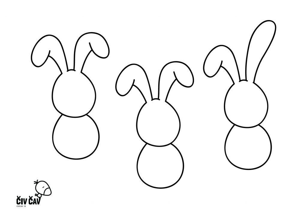 Nariši zajčka - brez navodila - civcav.si