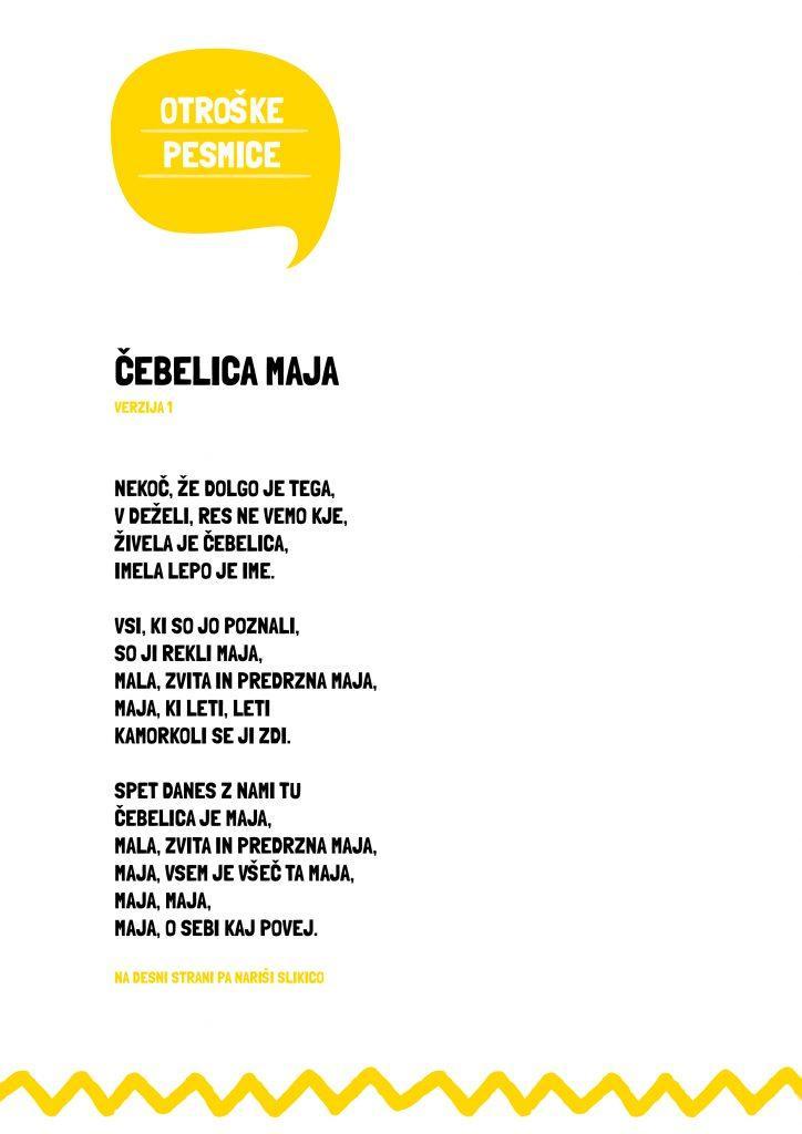 Otroške pesmice - Čebelica Maja - verzija 1 - civcav.si