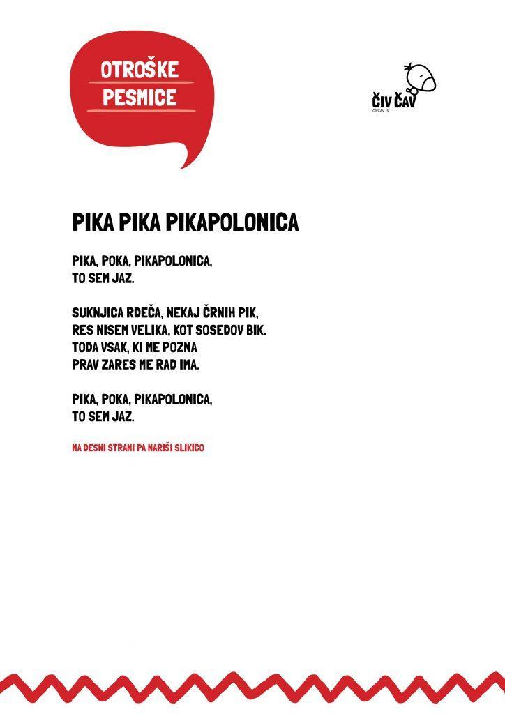 Otroške pesmice - Pika poka pikapolonica - civcav.si