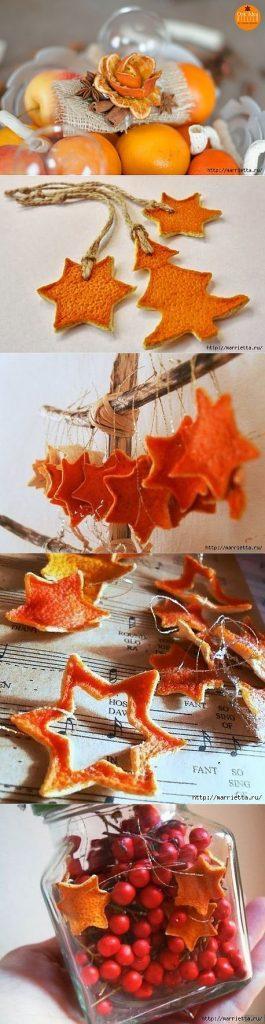 Naravni božični okraski - okraski iz posušenih mandarin - civcav.si