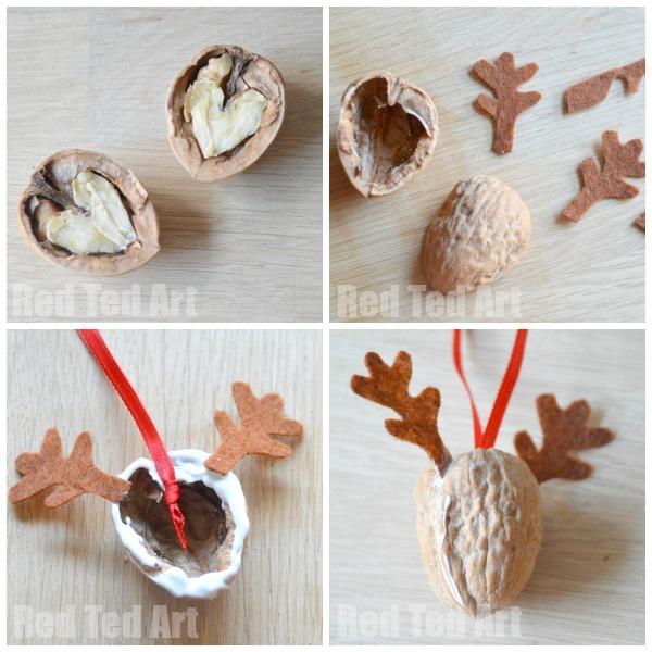 Naravni božični okraski - jelenček iz storža - 3 - civcav.si