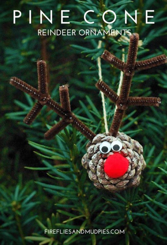 Naravni božični okraski - jelenček iz storža - 2 - civcav.si