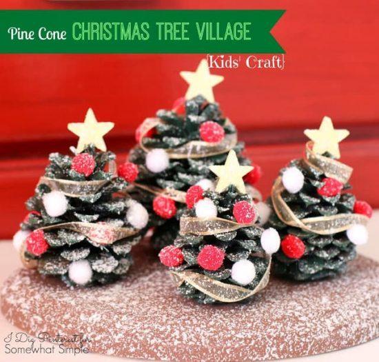 Naravni božični okraski - smrečica iz storža - 2 - civcav.si