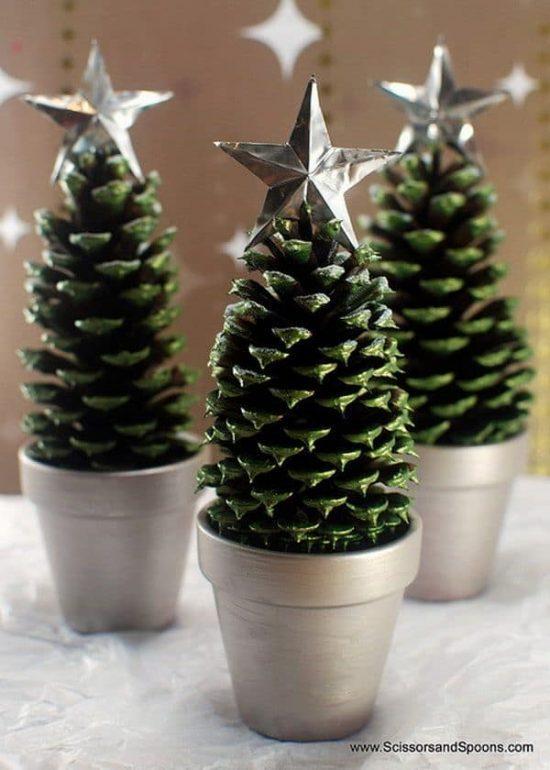 Naravni božični okraski - smrečica iz storža - 3 - civcav.si