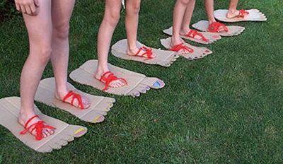 Poletne otroške igre - big foot tekma - civcav.si