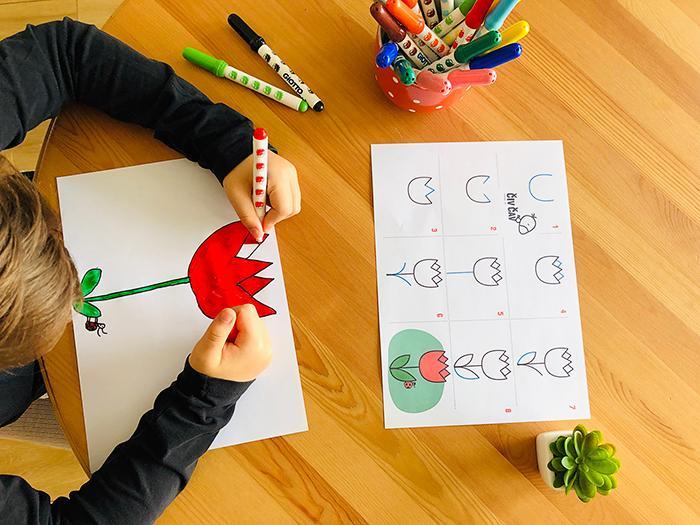Kako enostavno narišemo tulipan - civcav.si