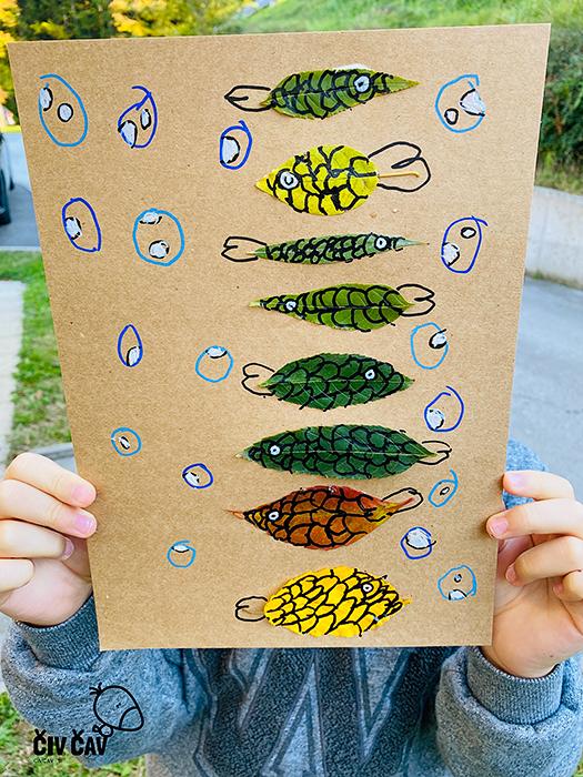 Živalice iz drevesnih listov - končna slika - civcav.si
