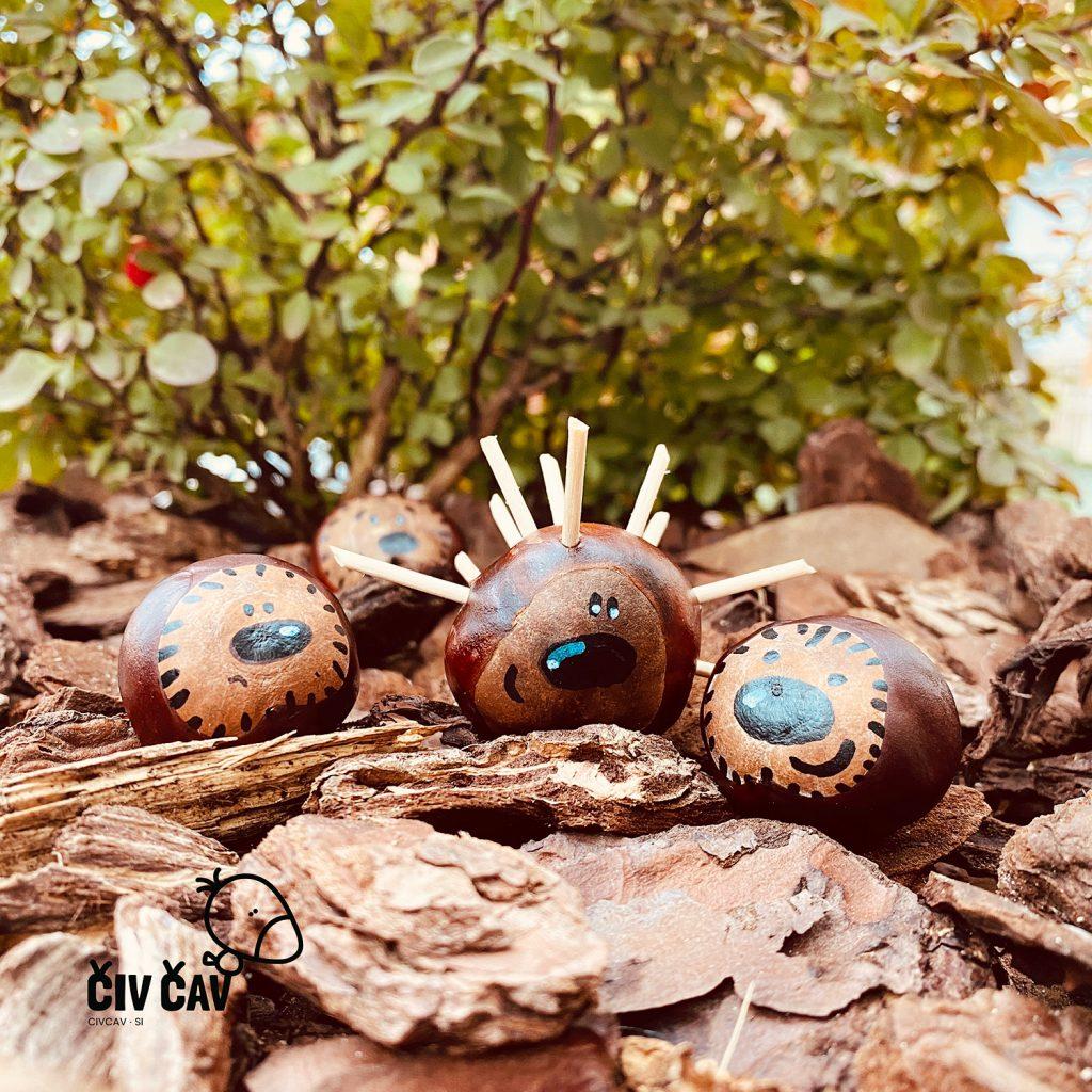 Živalice-iz-kostanja-ježek-1-civcav.si